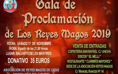 Gala de Proclamación de los Reyes Magos 2019